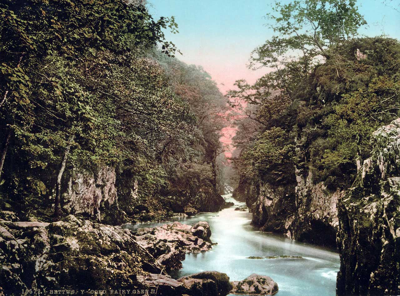 Betws Y Coed Photochroms Snowdonia In Wales