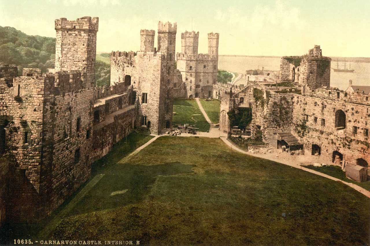 Photochroms Of Welsh Castles Snowdonia In Wales