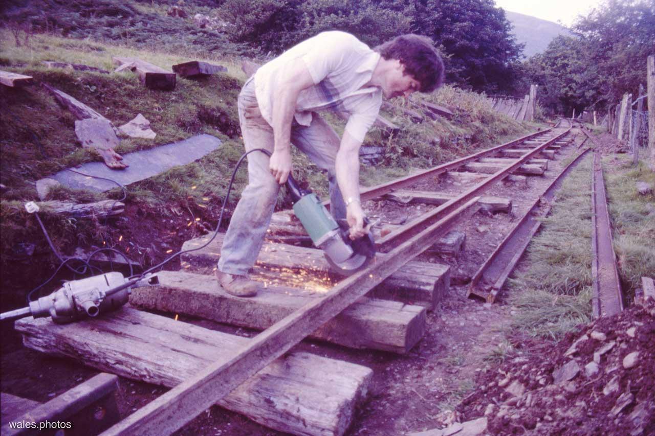 The Corris Railway in October 1987