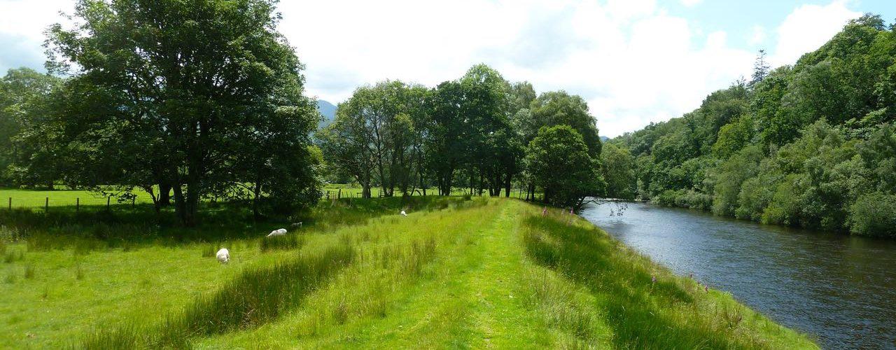 Afon Mawddach near Cymer Abbey, Dolgellau