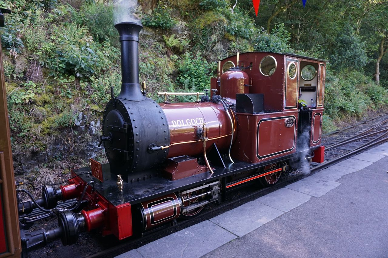 The Talyllyn Railway - Dolgoch Loco at Abergynolwyn Station