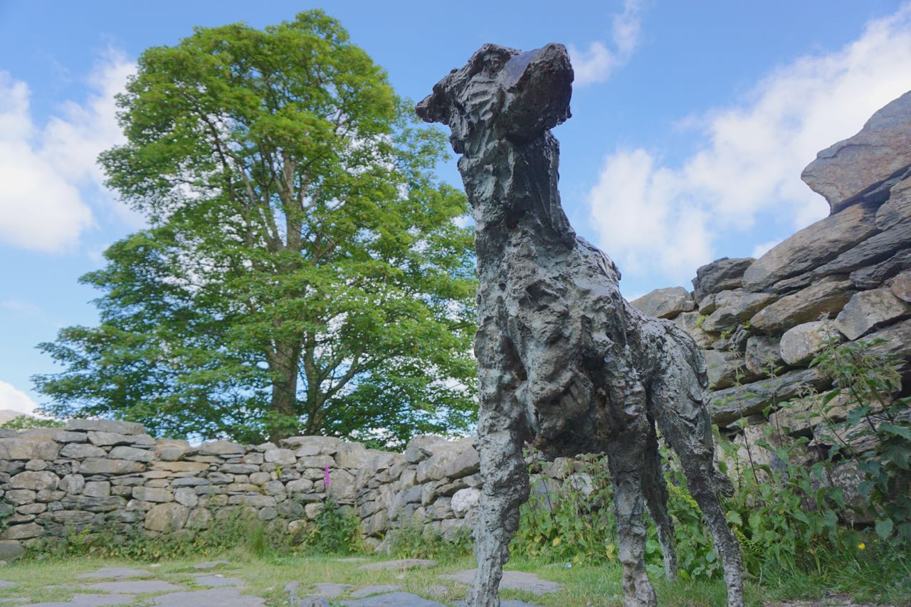 "Sculpture of the Dog ""Gelert"" at Beddgelert"