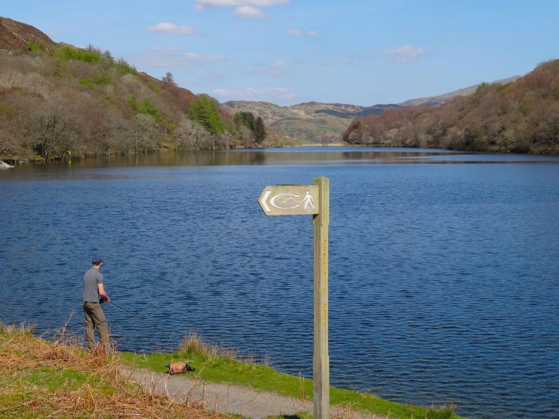 Fishing at Llyn Cynwch