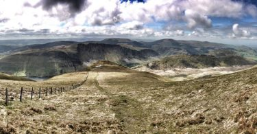 Looking Down The Ridge to Tal-y-Llyn (Llyn Mwyngil)