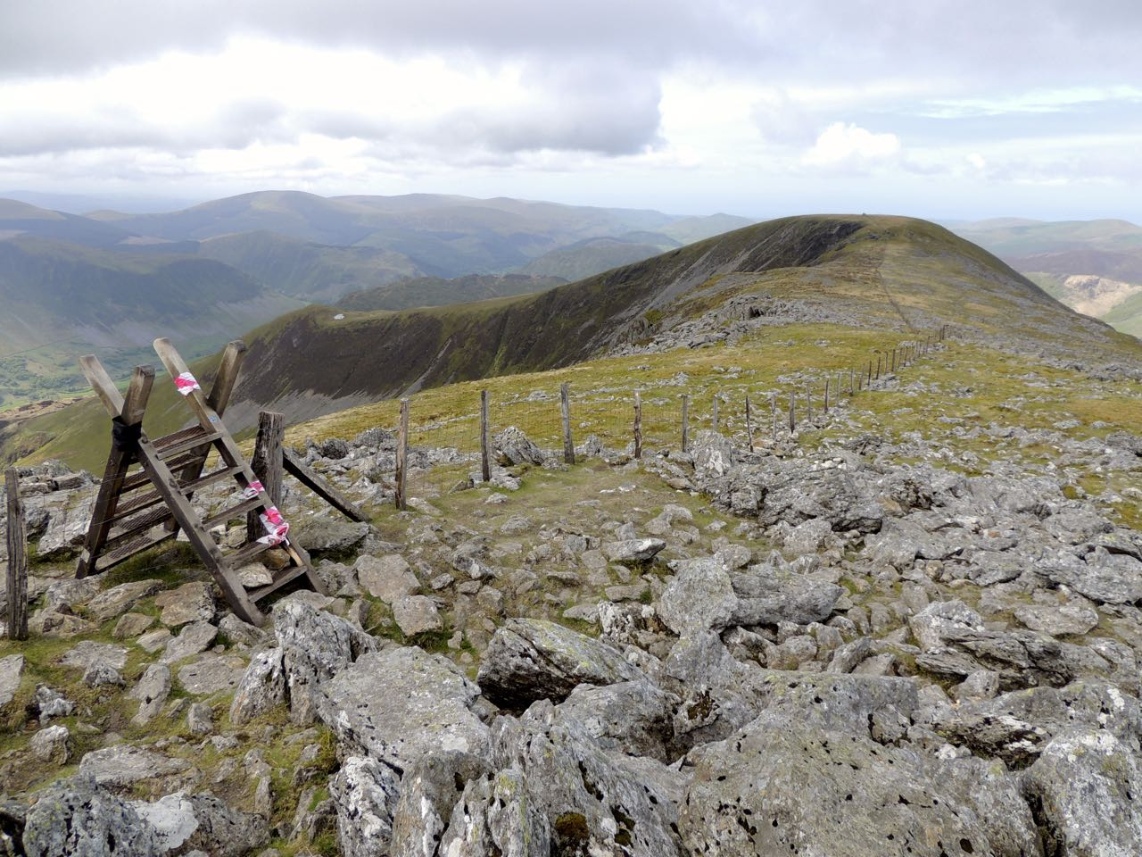 Looking Down the Ridge from Mynydd Pencoed, Cader Idris