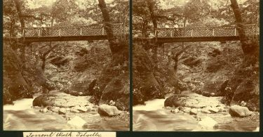 A Victorian Stereoscope of Torrent Walk Bridge