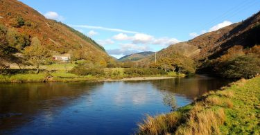 The River Mawddach near Cymer Abbey in Autumn