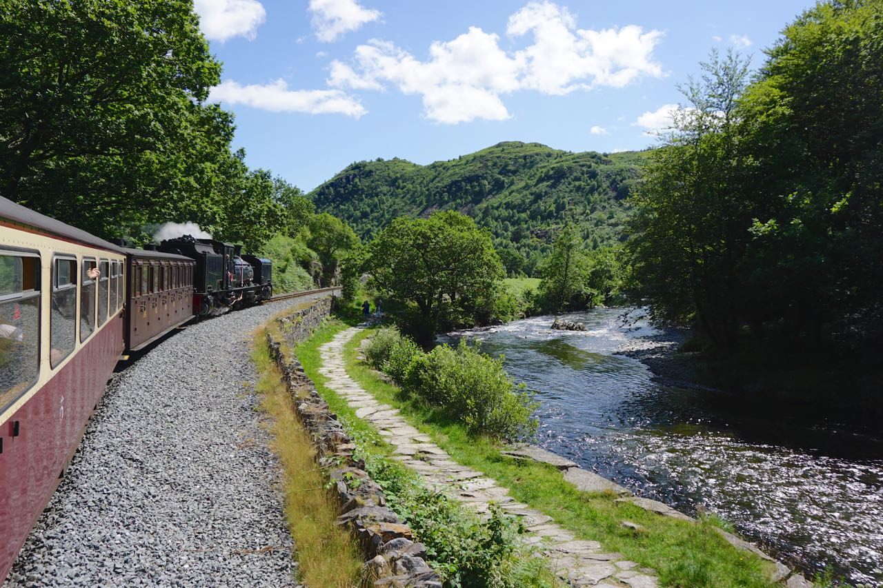 The Welsh Highland Railway at Aberglaslyn
