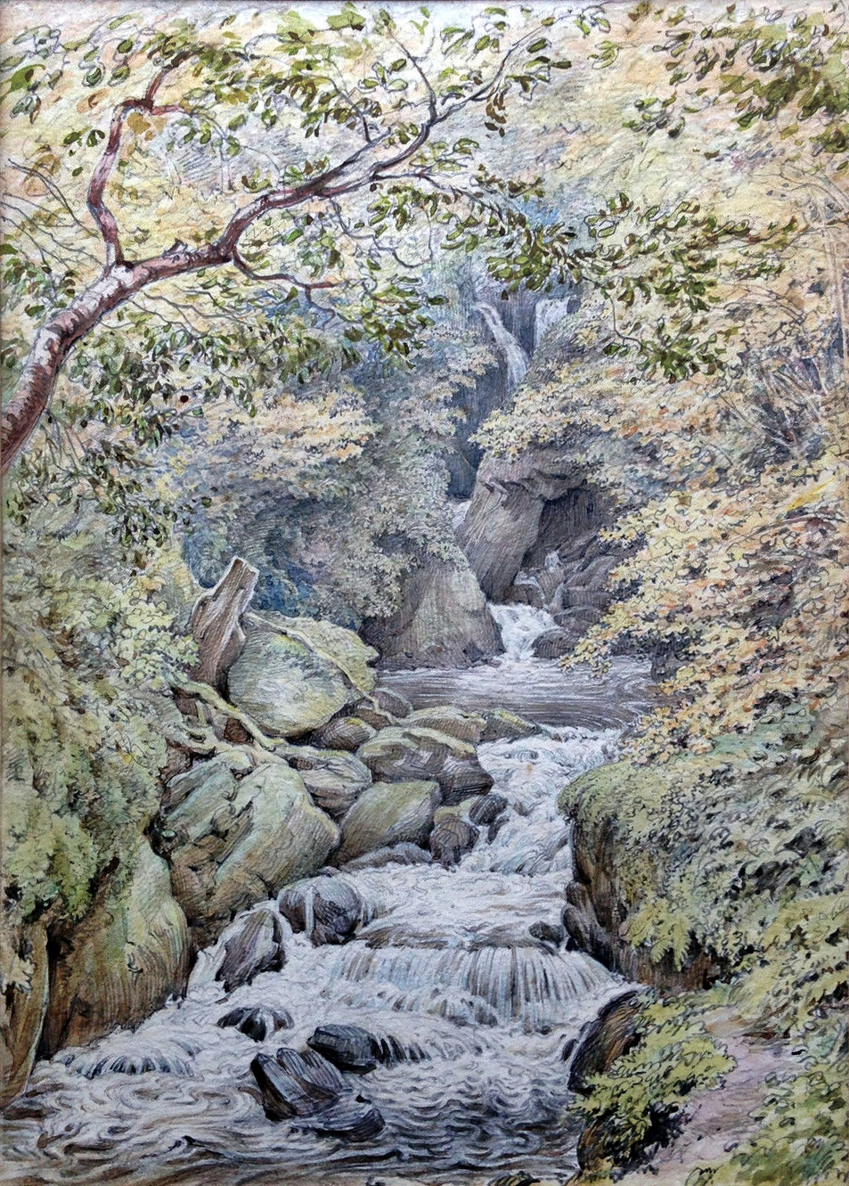 Torrent Walk Watercolour 1876