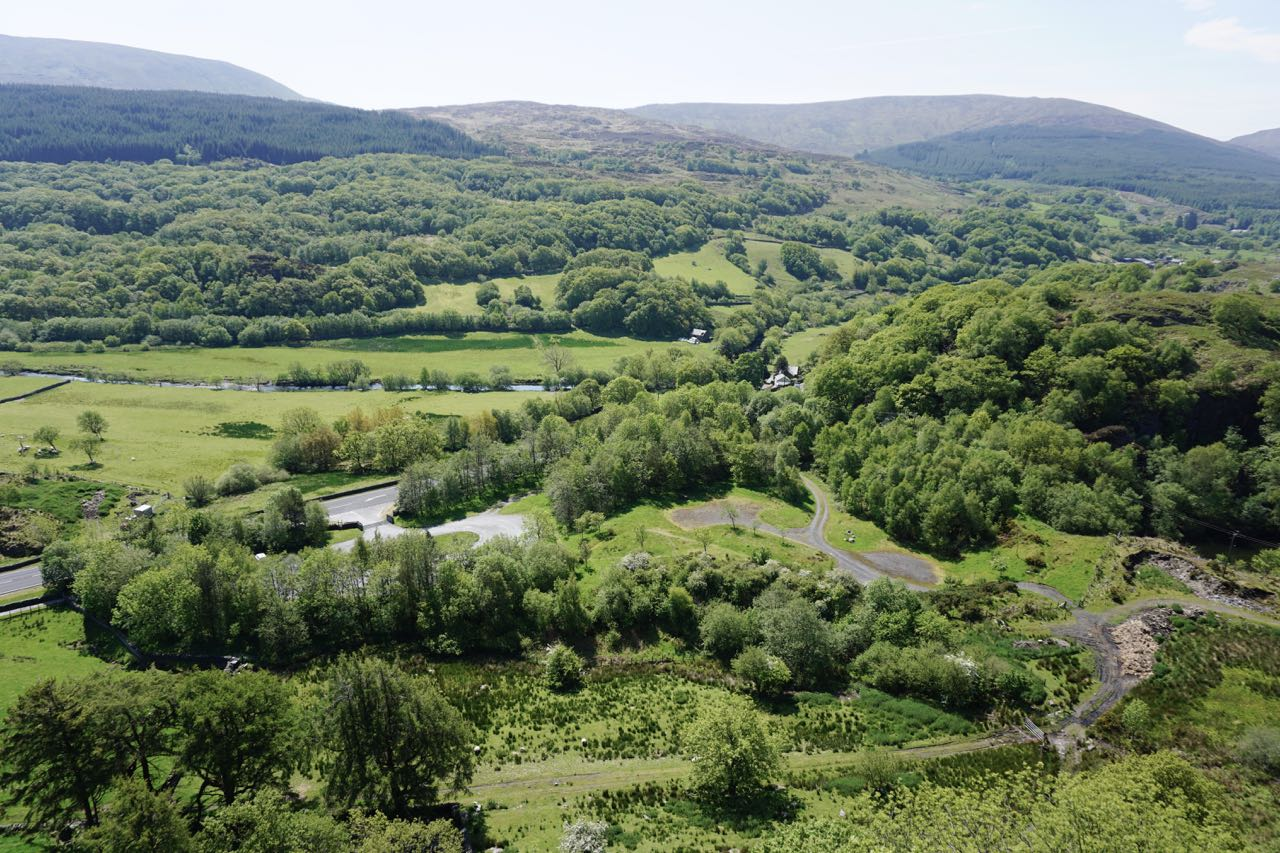 View from Dolwyddelan Castle