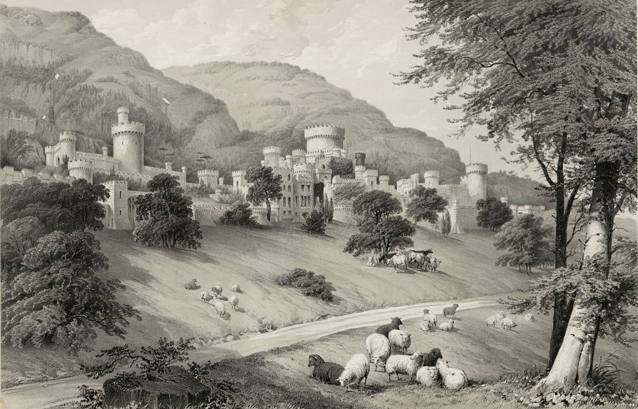 1840 Engraving of Gwrych Castle